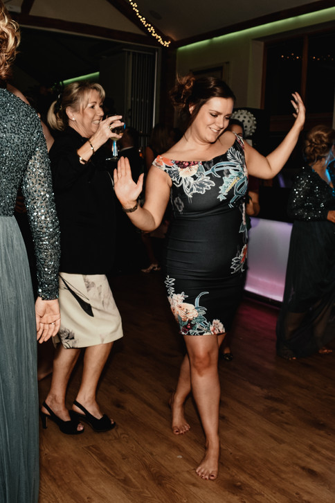Wedding Photographer Birmingham for non traditional couples, wedding guests laughing & dancing at Wootton Park Henley in Arden