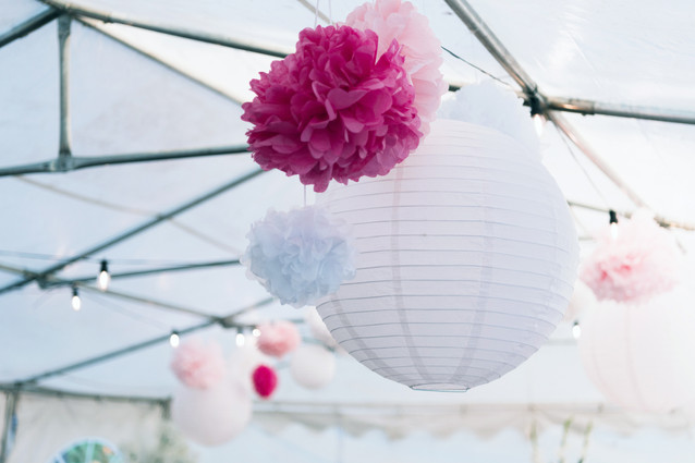 Wedding Photography Birmingham, uk, close up detail of lanterns for a wedding at the elephant & castle Rowington
