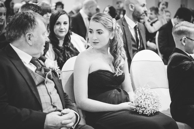 Wedding Photography Solihull, guests during the wedding ceremony at the Westmead Birmingham