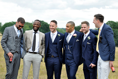 Fun wedding Photographer Solihull, the groom & grooms men laughing, candid natural wedding photograph at pendrell hall wolverhampton