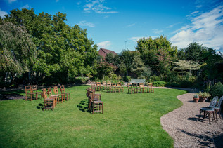 Lord leycester hospital wedding venue warwick, the wedding ceremony outside before the guests arrive, wedding photography Birmingham, uk