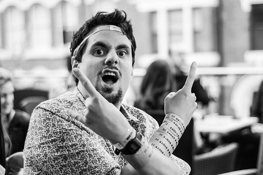 Wedding Photographer Solihull, rock n roll guest at a wedding, fun natural photograph