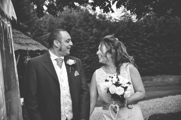The Limes Wedding Photographer Solihull, Wedding Photographer Birmingham, informal bride & groom photograph of the couple walking towards the camera laughing