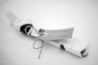 Photographer Wedding Solihull, close up of the wedding day cutlery at the elephant & castle rowington