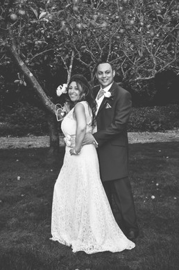 The Limes Wedding Photographer Solihull, Wedding Photographer Birmingham, fun photograph of the bride & groom under a tree at their wedding