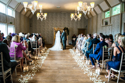 Hampton Manor Photographer Solihull, Full photograph of the whole room during the wedding ceremony