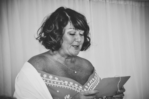 The Limes Solihull Wedding Photographer, Wedding Photographer Birmingham, guest doing a reading during the ceremony