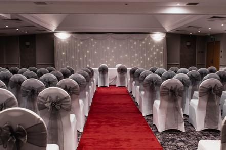 Wedding Photography Birmingham, the wedding ceremony room at the Westmead hotel Birmingham