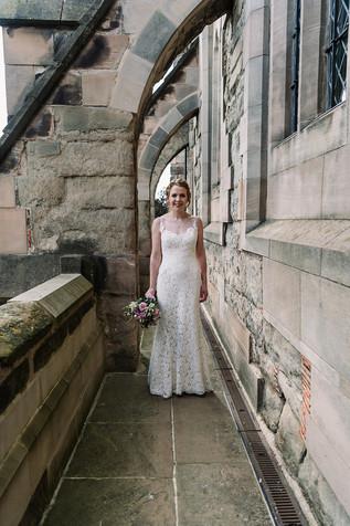 Photography wedding Birmingham, Bride portrait at the lord leycester hospital Warwick wedding venue