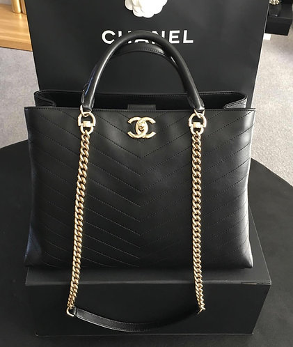 PRICE UPON REQUEST New season Chanel calfskin tote with gold hardware
