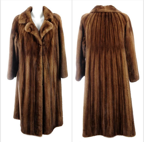 PRICE ON REQUEST Mink coat - fully stranded, self lined collar UK 12-14