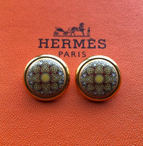 Adorable Vintage Clip On Hermès Earrings