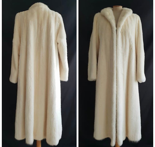 PRICE ON REQUEST White mink - swing coat - Couture Vintage UK Size 10-12