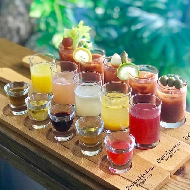 Flights: Bloody Marys, Mimosas, House Made Infused Rum