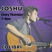 JOSHU PERFORMS WEEKLY