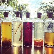 A few of our housemade infused rums