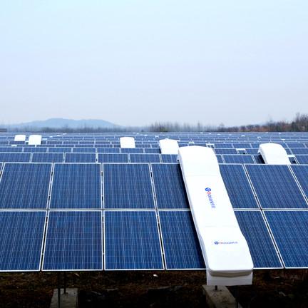 robots para limpiar de paneles fotovoltaicos de energia solar en chile