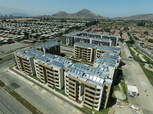 Entre Valles, Quilicura -Panel solar termosifon energia solar agua caliente colector solar termica