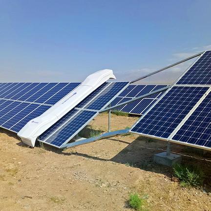 sistema de limpieza de modulos fotovoltaicos especiales para el desierto de Chile