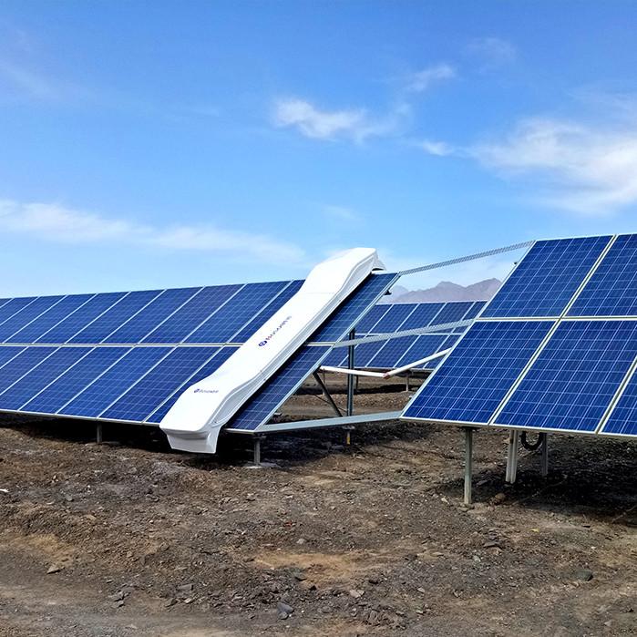 robot de limpieza fotovoltaico en seco