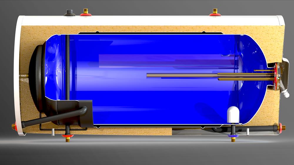 Estanque solar doble camara vitrificado Termic