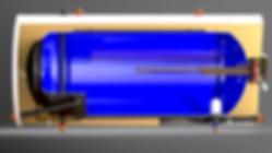 Corte de estanque de panel solar Termic