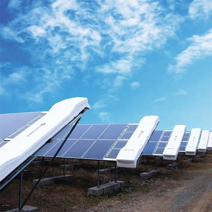 sistema de limpieza de modulos fotovoltaicos sin agua