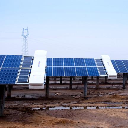 robots para limpieza de plantas fotovoltaicas