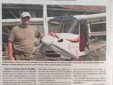 """Article dans """"Le Perche"""" 11 juillet 2018"""