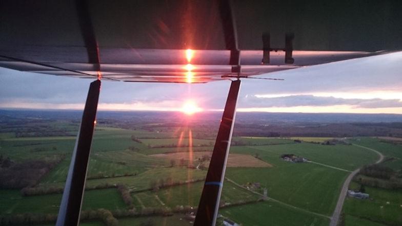 Survol du Perche : sunset coucher du soleil La Ferté-Bernard Sarthe