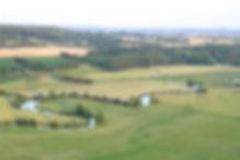 Survol du Perche : vallée de l'huisne en avion ULM Bellême Orne Normandie