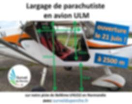 saut en parachute avion ULM - drop zones Survol du Perche.fr sauts spéciaux brevet D parachutisme zone de saut en Normandie largage de parachutiste en avion ULM