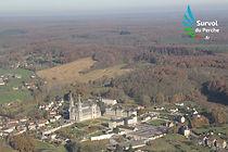 Basilique de la Chapelle-Montligeon, en avion ULM - Survol du Perche.fr