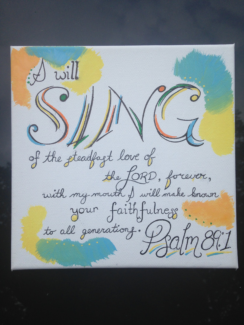 Psalm 89:1 - Acrylic