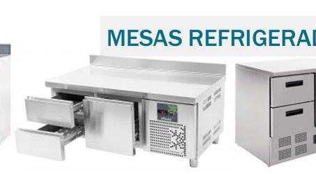 Mesas refrigeradas de uso profesional para Hostelería