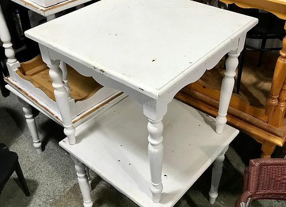 Mesa salón madera blanca