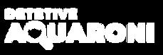 Logo Original Detetive Aquaroni - Branco
