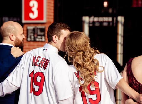 Kelsey + Ricky // Bridal Baseball Heaven