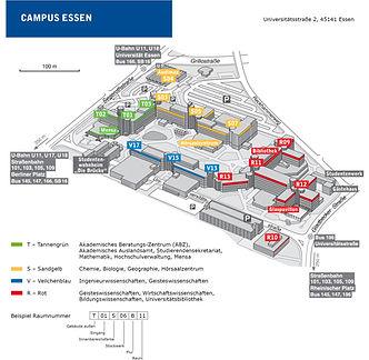 Übersicht Uni-Campus Essen