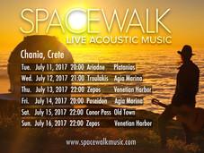 Concert Schedule, Crete, 11-16 July 2017