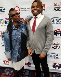 Christian Cordan and Samantha Selolwane