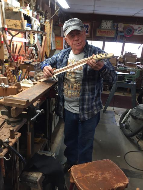 Dan at work in the shop