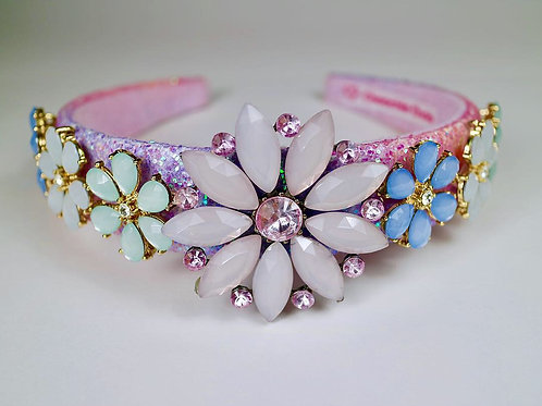 Jewelled Flower Alice Head Band