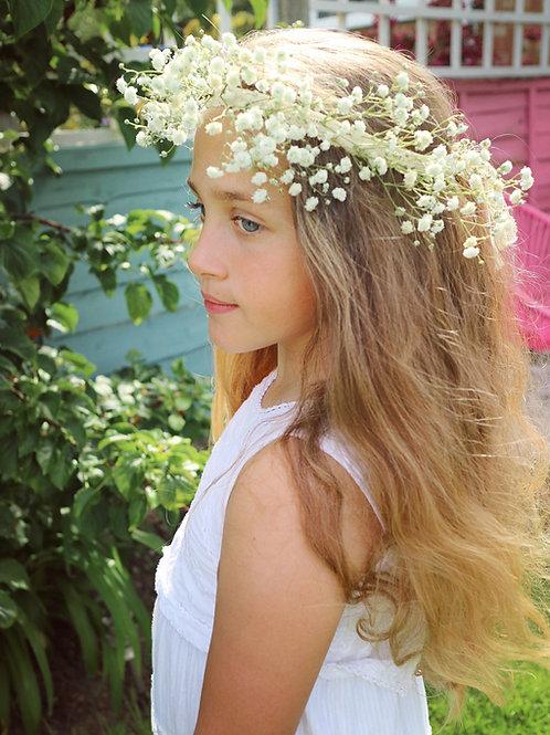 Real Gypsophila Babys Breath Garland Flower Crown Head Hair Band