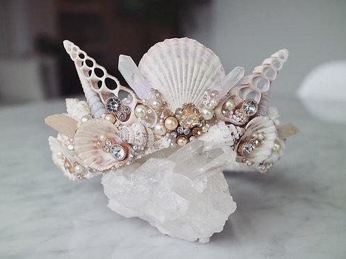 Rose Gold Diamond Sea Shell Mermaid Crown Hair Head Band