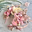 Thumbnail: Whimsical Pink Gold Kingfisher Bird Butterfly Flower Crown Headband Hair Band Ro