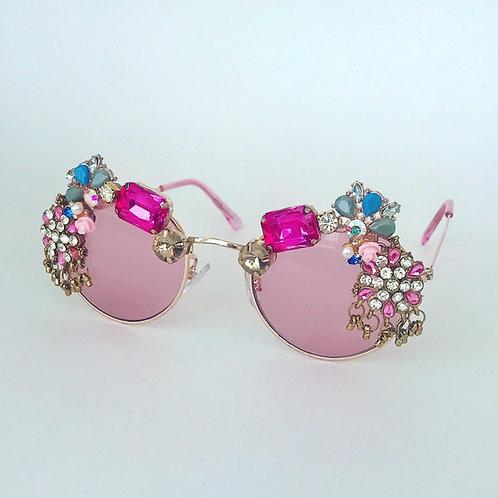 Pink Jewelled Diamond Sunglasses Festival