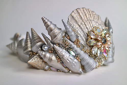 Silver & Gold Sea Shell Mermaid Crown Hair Head Band