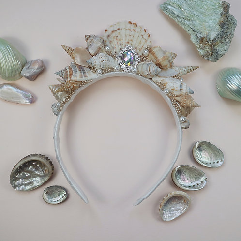 Ivory Pearl Sea Shell Mermaid Crown Alice Hair Head Band