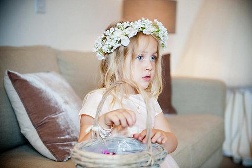 Lola Gypsophila Flower Spray Crown Babys Breath Hair Head Band